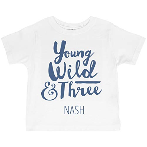 - Young Wild and Three Nash: Basic Jersey Toddler T-Shirt White