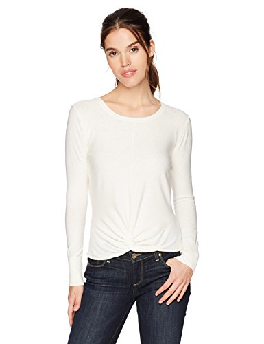 cupcakes and cashmere Women's Nedita Tie Front Sweater, Ivory, X-Small