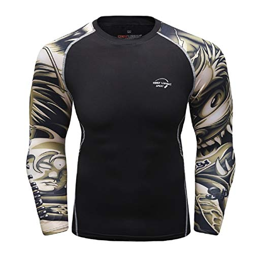 FAPIZI Men's Long Sleeve Outdoor Sport T Shirts Cycling Bike Jersey Breathable Running Quick Dry Sportswear