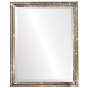 Ovalandroundmirrors com rect ngulo espejo biselado en un - Espejos marco plateado ...