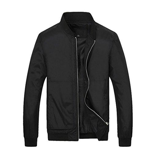 Hengzhi Bomber Jacket Elastic Overcoat
