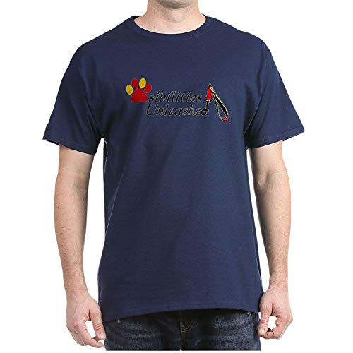 CafePress Therapy Pets are Angels in Furcoats T Shirt 100% Cotton T-Shirt Navy