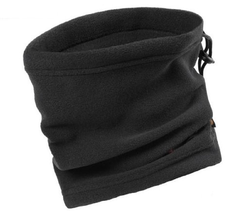 Fleece Lined Women Knit Beanie Scarf Set Girls Winter Ski Hat with Earflap Pompom (Black) (Runner Bobble Head)