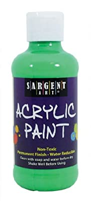 Sargent Art 22-2266 8-Ounce Fluorescent Acrylic Paint, Green