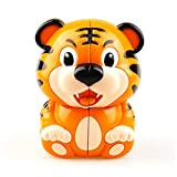 JIAAE Tiger Rubik's Cube 2X2 Children Early Education Puzzle Rubik Home Decoration Toy