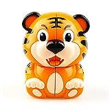 JIAAE Tiger Rubik's Cube 2X2 Children Early Education Puzzle Rubik Home Decoration Toy