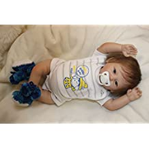 20-Inch Interactive Baby Boy Dolls So Truly Real Reborn Soft Vinyl Babies Rooted Mohair Blue Eyes