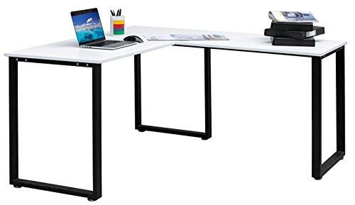 Merax L Shaped Office Workstation Computer Desk Corner Desk Home Office  Wood Laptop Table Study Desk ?White?