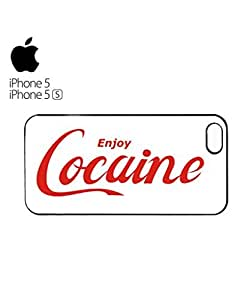 Enjoy Cocaine Drug Offensive Mobile Cell Phone Case Cover iPhone 5&5s Black