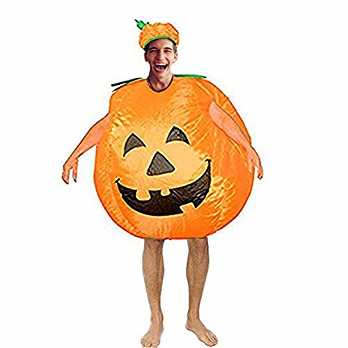 BlueSpace Inflatable Costumes Hallowenn Cosplay Costumes Gaint Pumpkin Suit for Audlts and Kids