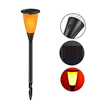 Solar Lights Outdoor Waterproof Flickering Flames Torches Spotlights Landscape Decoration Lighting Flood Patio Pathway Driveway Lawn Garden Dusk to Dawn Auto Walkway On/Off Security Torch