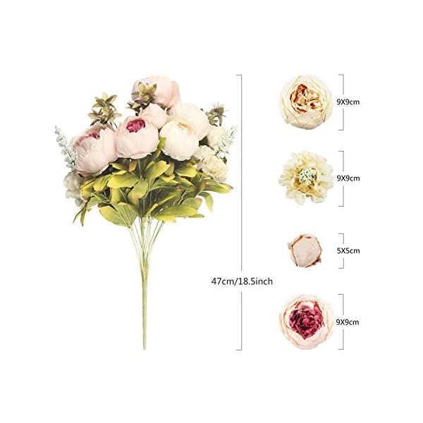 CEWOR-Artificial-Silk-Flowers-with-a-roll-of-Satin-Ribbon-for-Home-Bridal-Wedding-Party-Festival-Bar-Decor