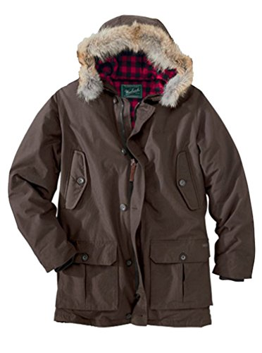 (Woolrich Men's Arctic Down 550 Fill Parka Dark Wood (Large))