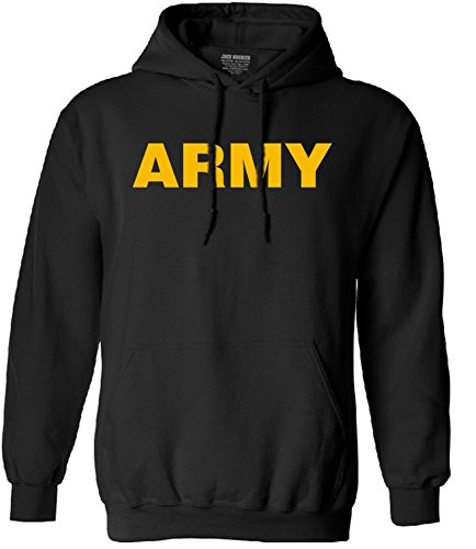 - Joe's USA Gold Army Logo Hoodie- GoldArmy Hooded Sweatshirt, Size M