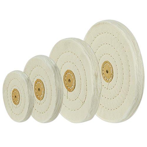 "8/"" x 1//2/"" Arbor Hole 60 Ply Loose Polishing Muslin Cotton Buffing Wheel"