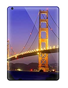 Anti-scratch And Shatterproof Golden Gate Bridge Phone Case For Ipad Air/ High Quality Tpu Case