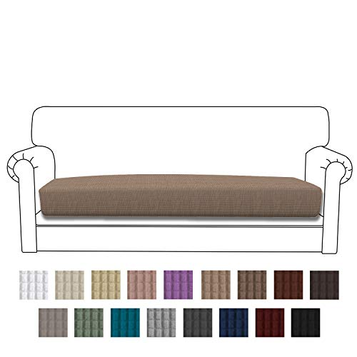 Easy-Going Stretch Cushion Cover Sofa Cushion Furniture Protector Sofa Seat Sofa slipcover Sofa Cover Soft Flexibility with Elastic Bottom(Sofa Cushion,Camel)