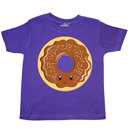 inktastic - Chocolate Donut Toddler T-Shirt 4T Purple 35006