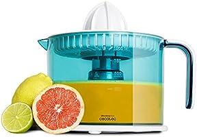 Exprimidor eléctrico para naranjas y cítricos de 40 W. Tambor de 1 litro BPA Free. Doble sentido de giro, doble cono y cubierta antipolvo. ZitrusEasy Basic de Cecotec.