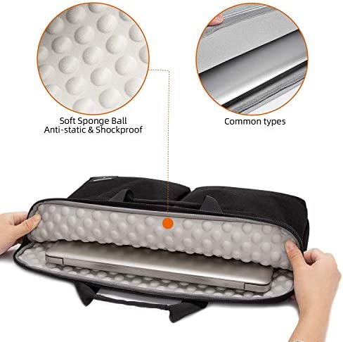 WDSFT Laptop Sleeve Women Men Solid Laptop Bag for Mac Pro 15 Case Notebook Bag 14 15.6 Inch Color : 4, Size : 17-17.3 inch