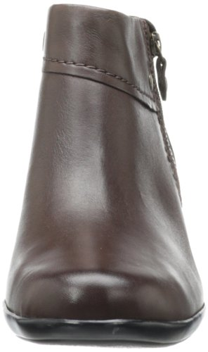 CLARKS Women's Brown Thames Ingalls Leather Bootie ZO4wAqPZp