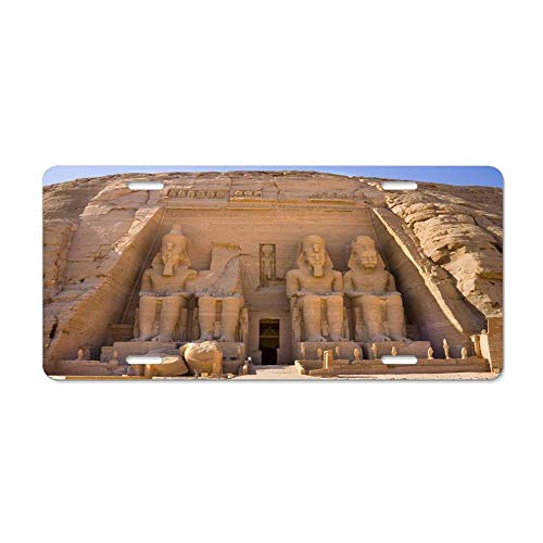 - Blingreddiamond Temple of Ramesses Abu Simbel Egypt Customized License Plate Cover Aluminum Auto Car Tag Sign 4 Holes 12 x 6 Inch