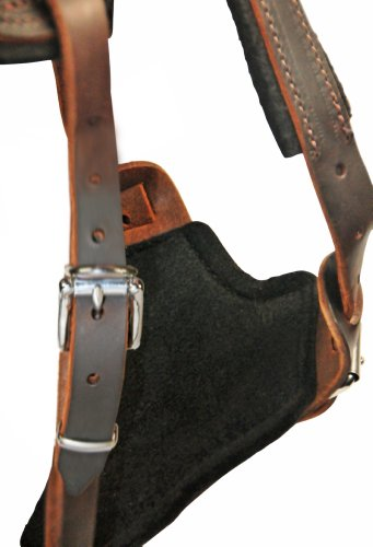 Dean-and-Tyler-The-Boss-Nickel-Belt-Style-Buckles-Dog-Harness-with-Handle-Brown-Medium-Fits-Girth-Size-28-Inch-to-37-Inch