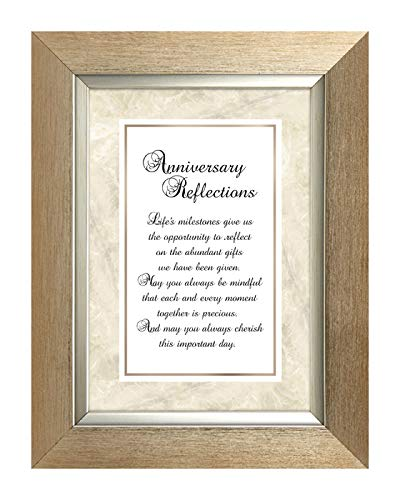 US Gifts Anniversary Reflections -7'' X 9'' Framed Tabletop