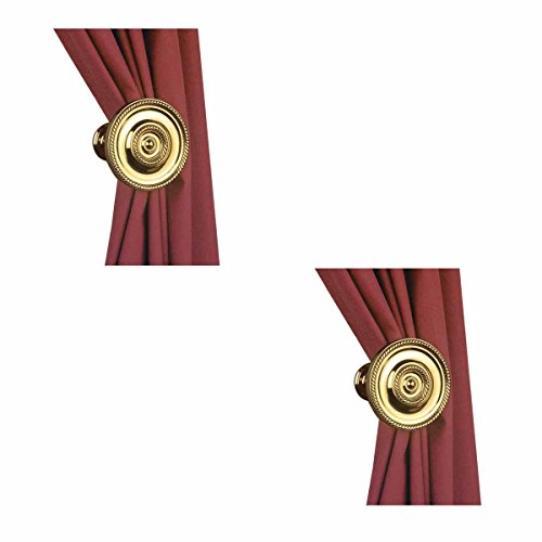 Holdbacks Brass (Curtain Tieback Holder Solid Brass Rust And Tarnish Resistant RSF Finish Decorative Polished)