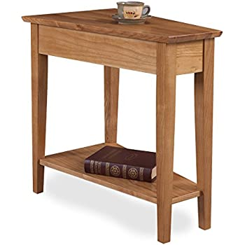 Amazon Com Leick Recliner Wedge End Table Medium Oak
