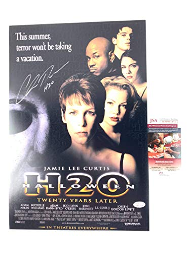 Chris Durand Signed 12x18 Movie Poster Halloween H2O Michael Myers JSA ()