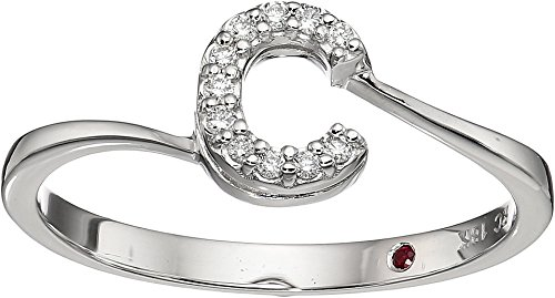 Roberto Coin White Ring (Roberto Coin Women's Tiny Treasure Initial C Love Letter Ring White Gold 6 1/2)