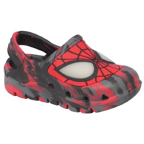 Marvel Spiderman Toddler Slippers Sandals Clogs Medium 7/8 - Image 3
