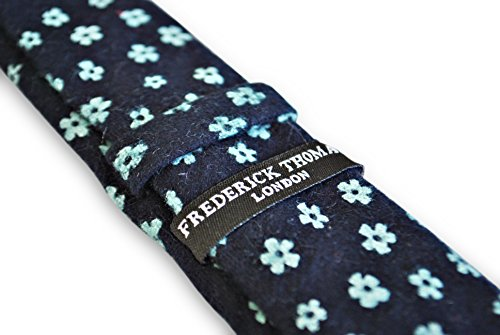 Premium Design blue Pattern Frederick Style Handmade Floral Wedding Mens Thomas Navy Tie HtwSE