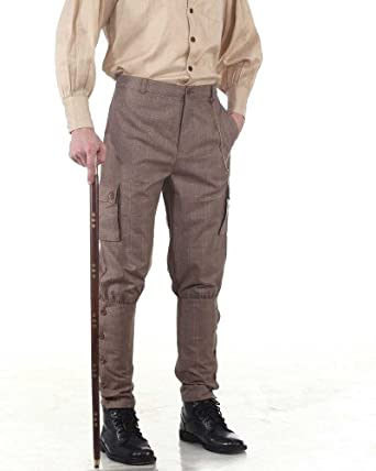 Men's Steampink Pants & Trousers Airship Pants Trousers -Checkered  AT vintagedancer.com