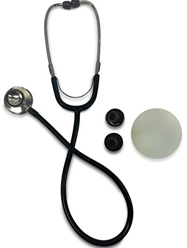 Primacare DS-9290-BK Classic Series Adult Dual-Head Stethoscope 22 PVC Tubing Length Black