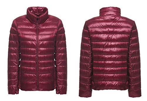 Fit Di In Vintage Cappotto Manica Pelle Autunno Invernali Slim Red Fashion Donna Sintetica Wine Similpelle Costume Colore Giacca Lunga Casual Pelliccia Puro Collo RqIPAwzU