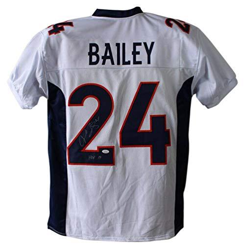 - Champ Bailey Autographed Jersey - White XL HOF 23978 - JSA Certified - Autographed NFL Jerseys