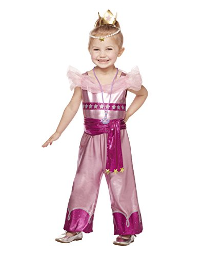 Spirit Halloween Kids' Leah Costume - Shimmer & Shine,Pink,5-6T (Pink Genie Costume)