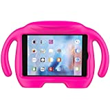 LEDNICEKER Kids Case for iPad Mini 1 2 3 4 5 - Light Weight Shock Proof Handle Stand Kids Friendly for iPad Mini, Mini 5, Mini 4, Mini 3rd Generation, Mini 2 Tablet - Magenta/Rose