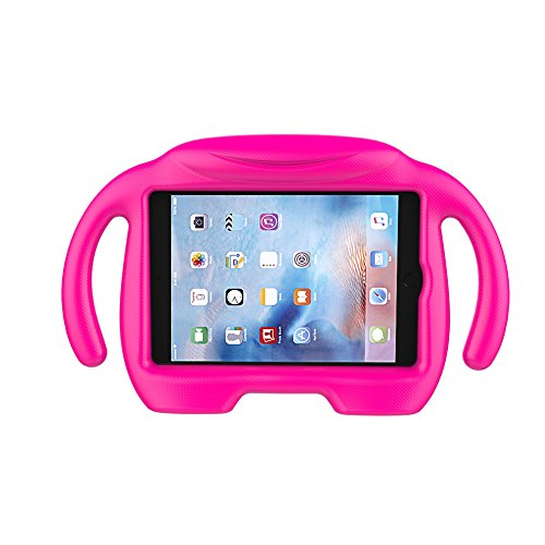 (LEDNICEKER Kids Case for iPad Mini 1 2 3 4 5 - Light Weight Shock Proof Handle Stand Kids Friendly for iPad Mini, Mini 5, Mini 4, Mini 3rd Generation, Mini 2 Tablet - Magenta/Rose)