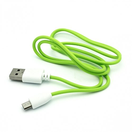 3' Logo Cube - Green 3ft Micro USB Data Cable Sync Power Transfer Charging Wire for US Cellular LG Logos - US Cellular LG Optimus F7 - US Cellular Motorola Google Nexus 6