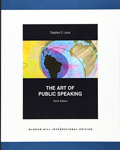 The Art Of Public Speaking 10Ed (Ie) (Pb 2009)