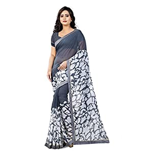 Jaanvi fashion Chiffon with Blouse Piece Saree