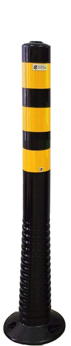 Barrier Posts Flexible Black Height 750/mm Diameter 80/mm Yellow Reflective Stripes Class RA2/Selbstaufrichtender Barrier Post Bollard Posts
