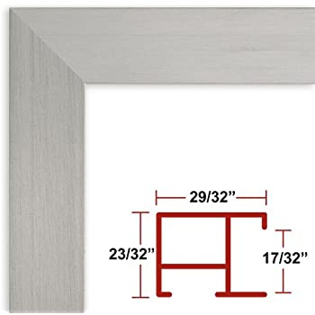 Amazon.com - 36 x 54 Satin Silver Poster Frame - Profile: #97 Custom ...