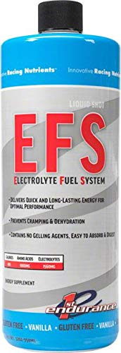 First Endurance Nutrition - First Endurance EFS Liquid Energy Shot Refill - Sports Nutrition for Quick & Lasting Energy | Vanilla | 32 oz
