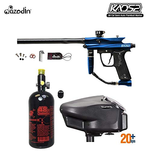 MAddog Azodin KAOS 2 HPA Paintball Gun Package A - Blue/Black ()