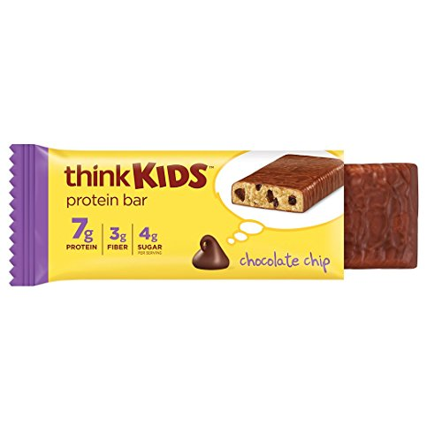 - Protein Bars for Kids ThinkKids - Snack Size for On The Go, 7g Protein, Gluten Free, GMO Free, No Artificial Colors or Flavors - Chocolate Chip (5 Bars)