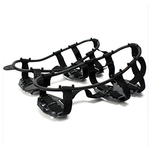 LISRUI Pair Snow Shoes Gripper Spikes Boots Overshoes Climbing Grip Crampon Walk Cleat